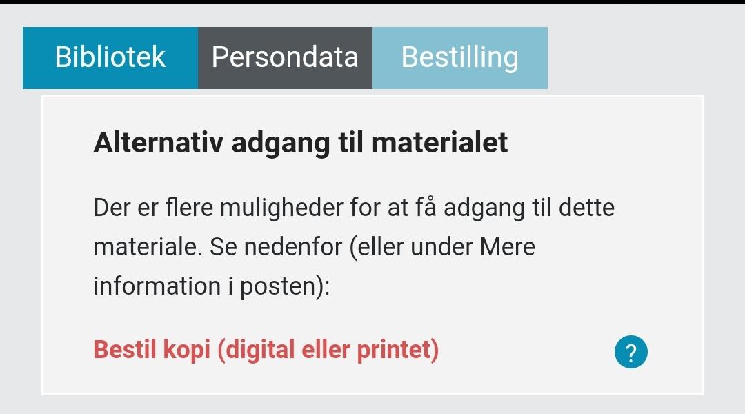 'Bestil kopi (digital eller printet)' er markeret med rødt
