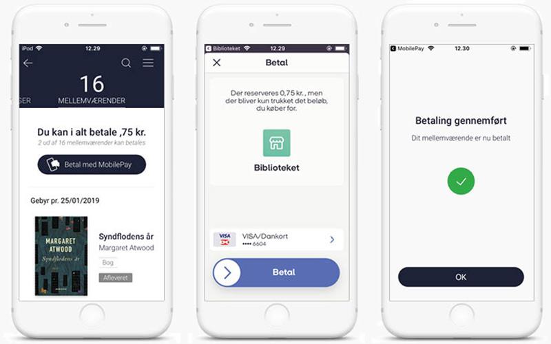 MobilePay - du skylder, betaling og gennemført betaling
